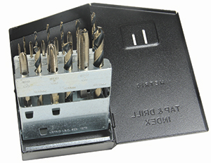 HSS 18pc. METRIC Drill & Tap Set Spiral Point