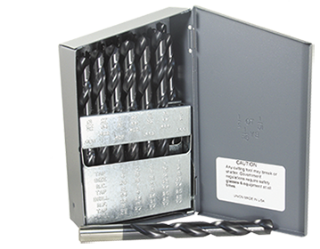 HSS 29pc. NAS 907B Aluminum Titanium  Nitride 135° Split point